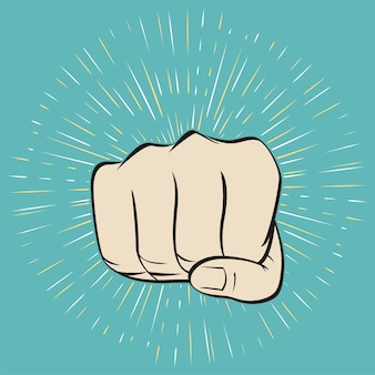 Fist male hand
