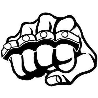 Fist and metal knuckle illustration