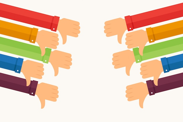 Fists down with sleeves in various colors