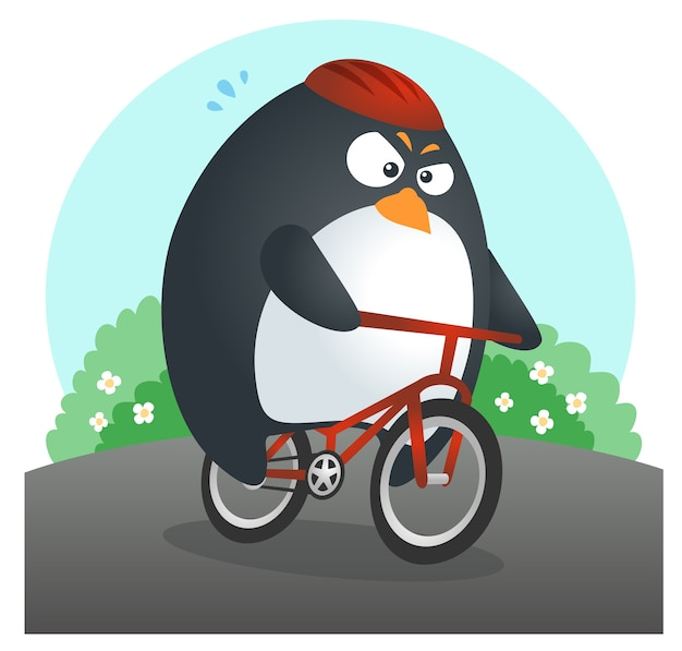 Fit penguin bicycle
