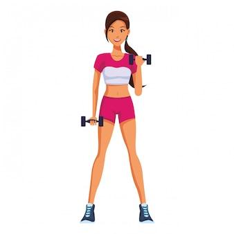 運動をしているフィット女性