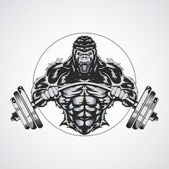 Fitnes gorilla logos