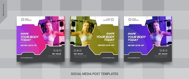 Fitnes social media banner desig