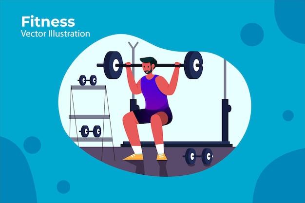 Фитнес - иллюстрация спортивной деятельности