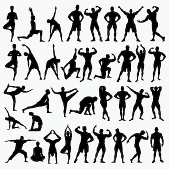 Fitness 2 silhouettes