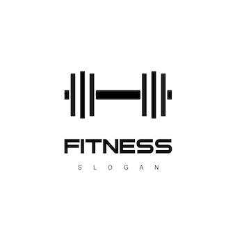 Шаблон логотипа фитнес и тренажерный зал