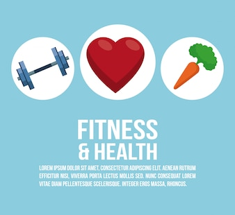 Fitness and health elements infographic concept