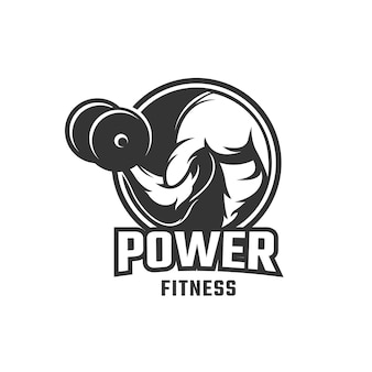 Fitness body building logo template