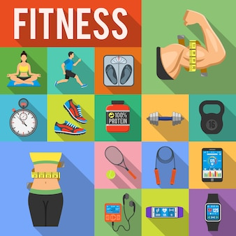 Fitness card set