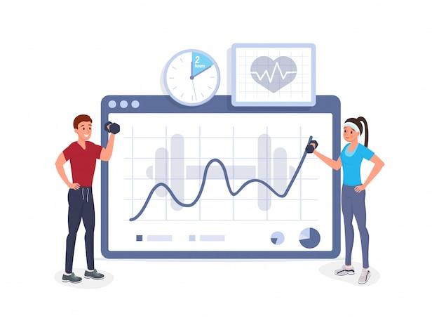 Fitness cardiogram