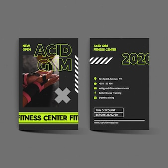 Fitness center business card