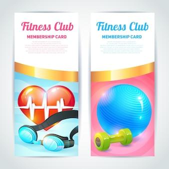 Fitness club card design