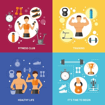 Fitness club healthy life concept