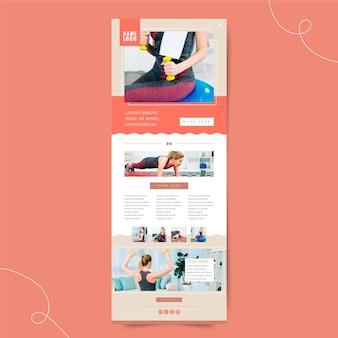 Modello di e-mail di comunicazione fitness