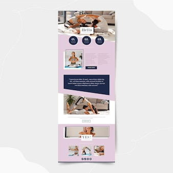 Fitness communication email template