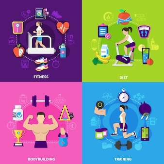 Fitness composition set