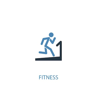 Fitness concept 2 colored icon. simple blue element illustration. fitness concept symbol design. can be used for web and mobile ui/ux