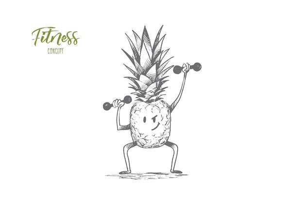 Иллюстрация концепции фитнеса