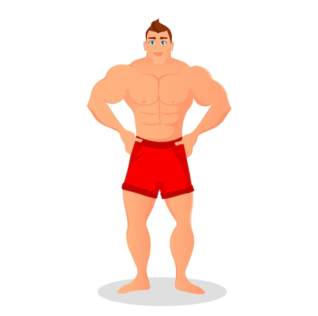 Fitness concept with sport bodybuilder man. muscular models. mens physique athlete