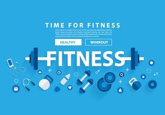 Фитнес-тренировка с оборудованием.
