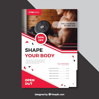 Fitness cover template with image