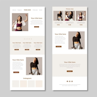 Fitness email newsletter template