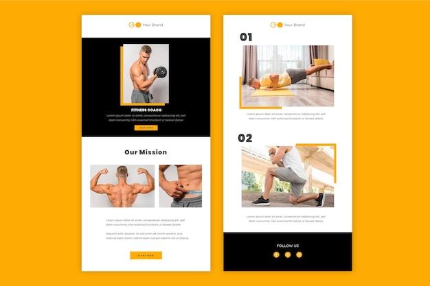 Modello di email fitness
