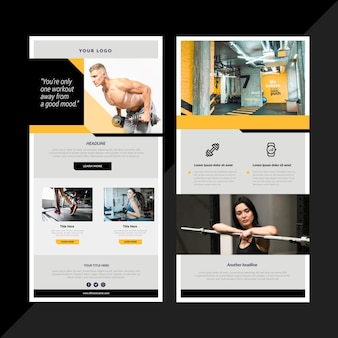 Fitness email template