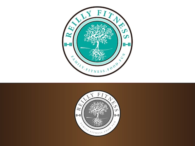 Fitness empowering logo design