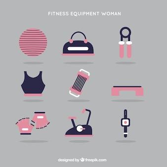 ピンク色の女性のためのフィットネス機器