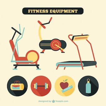 Fitness equipment in retro style