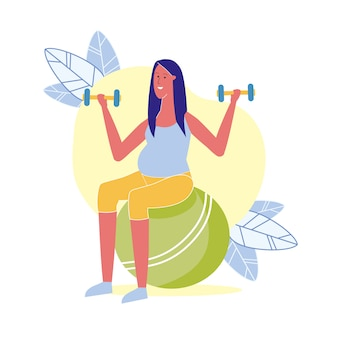 Fitness exercise for pregnant illustration