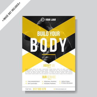 Fitness flyer layout background template