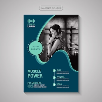 Fitness flyer template for gym