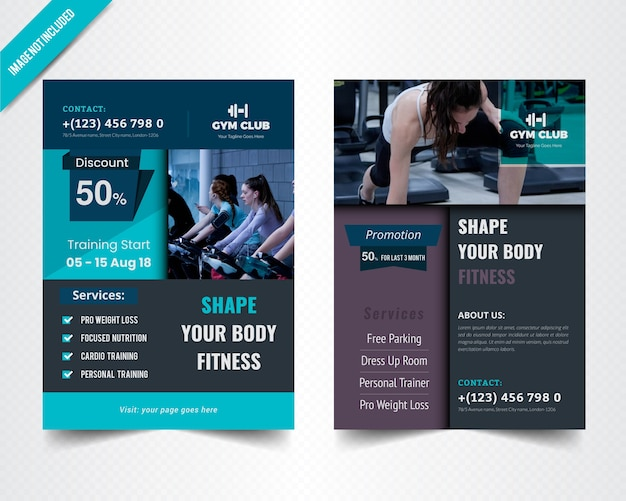 Fitness flyer template for gymnesium
