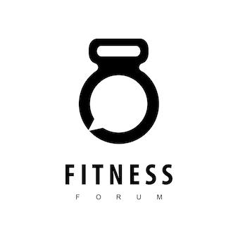 Дизайн логотипа фитнес-форума, вдохновение