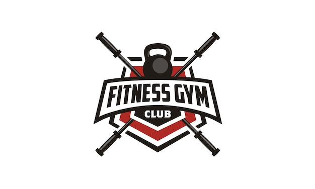 Fitness / gym badge emblem logo design