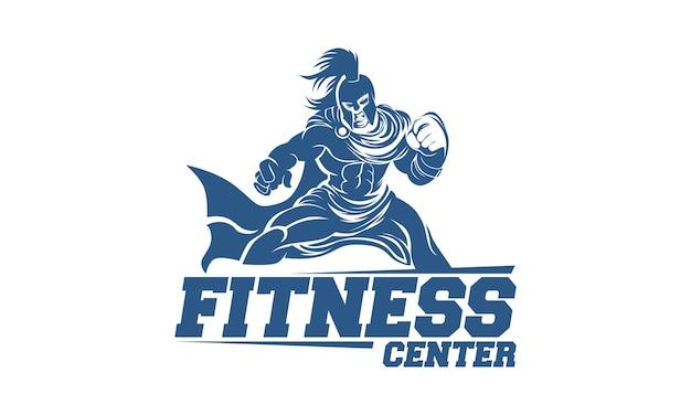 스파르타 전사와 피트 니스 체육관 로고 디자인 서식 파일