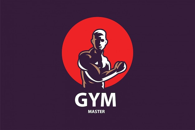 Fitness gym logo design template