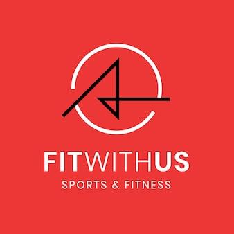 Modello di logo palestra fitness, illustrazione astratta nel vettore di design moderno