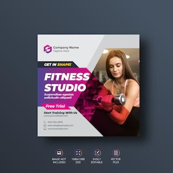 Fitness gym social media banner