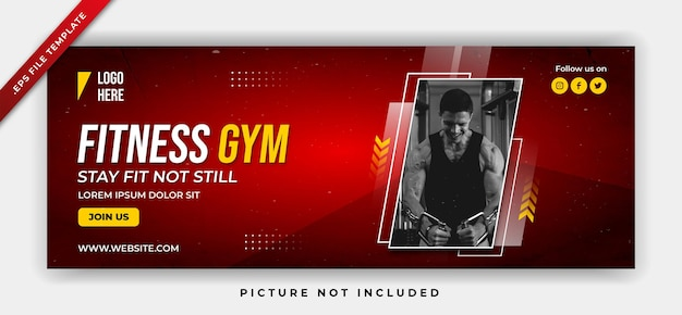 Fitness gym sports poster web banner template