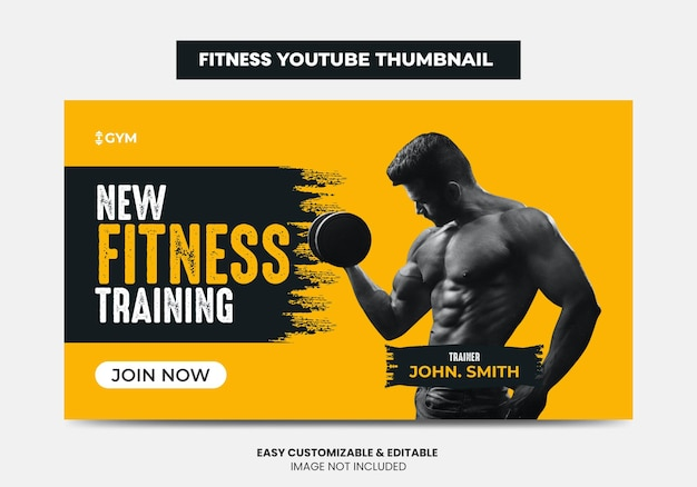 피트니스 체육관 훈련 유튜브 썸네일 디자인 및 웹 배너 체육관 에이전시 비디오 썸네일