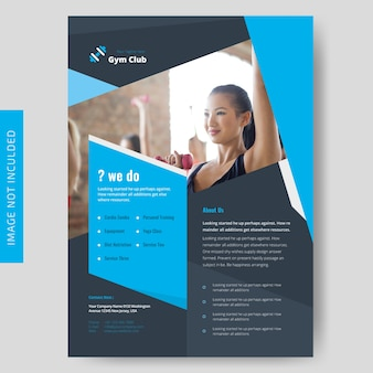 Fitness & gymnesium flyer template