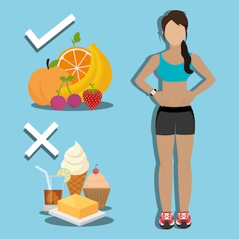 Fitness and healthy food