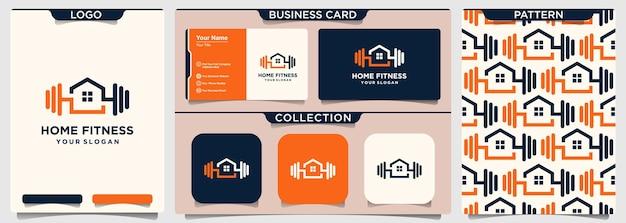 Фитнес дом шаблон логотипа дизайн вектор