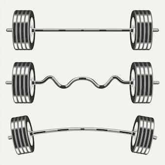 Набор иконок фитнес
