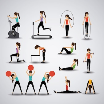 Fitness illustration.