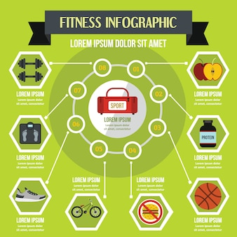 Fitness infographic concept