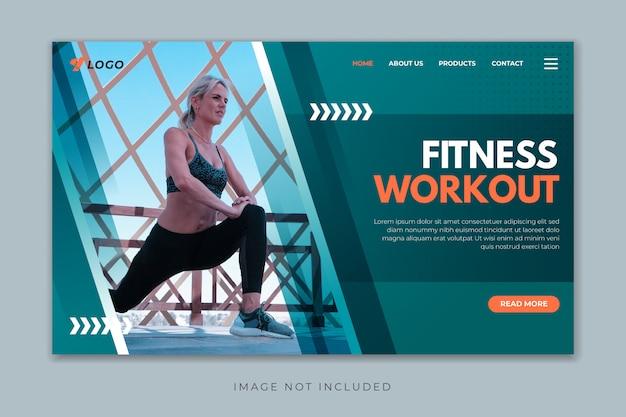 Шаблон целевой страницы фитнес